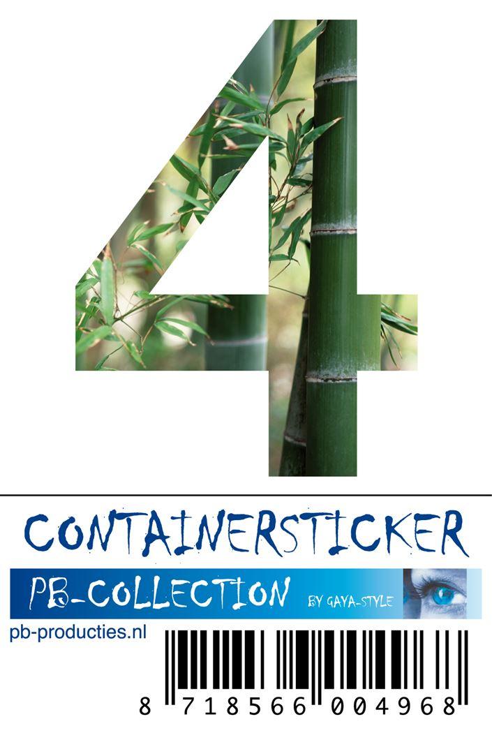 pb cijfersticker bamboe nr.4