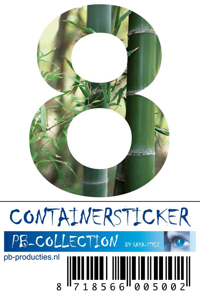 pb cijfersticker bamboe nr.8