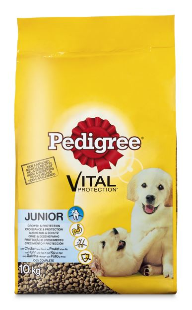 pedigree vital junior kip&rijst