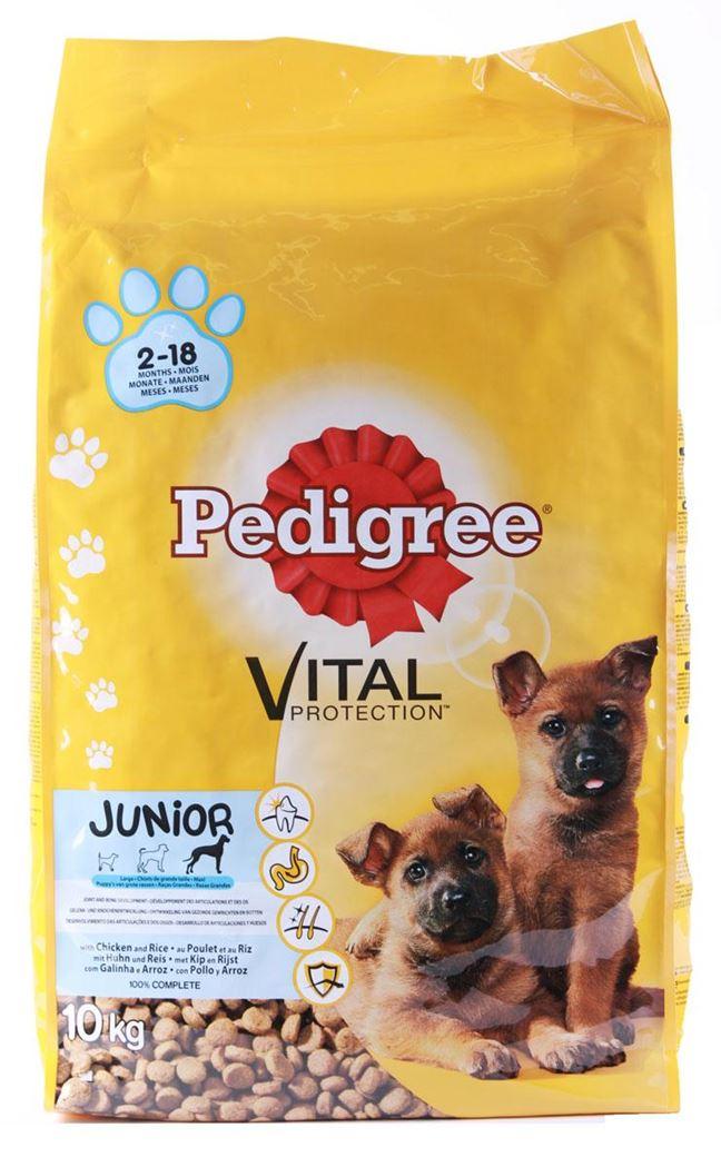 pedigree vital junior maxi kip&rijst