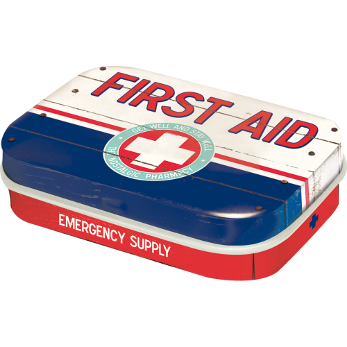 mint box first aid blue - emergency supply