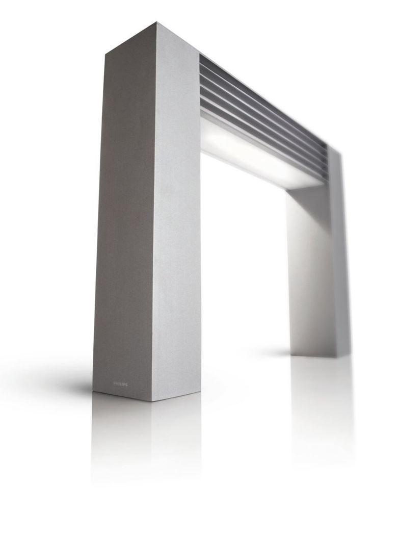philips arcade pedestal grey 1x24w 230v