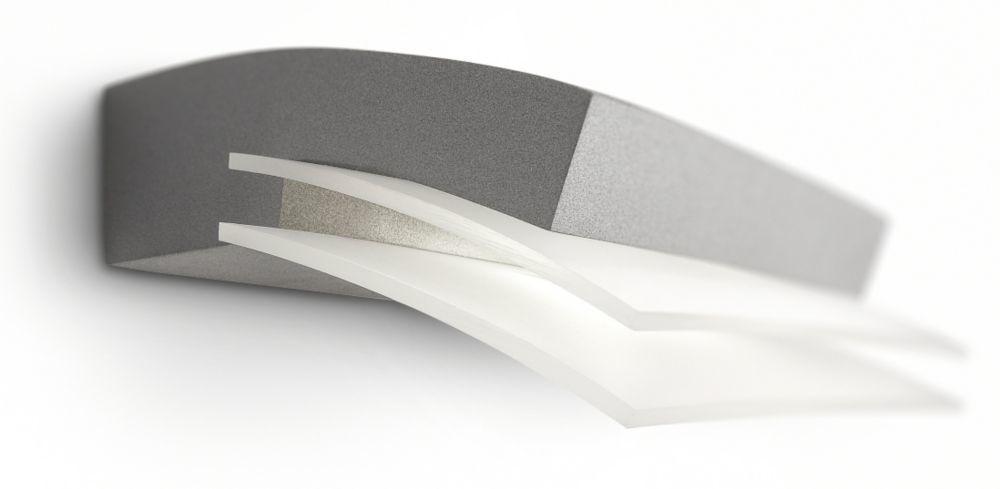 philips buitenlantaarn modern led metaalgrijs
