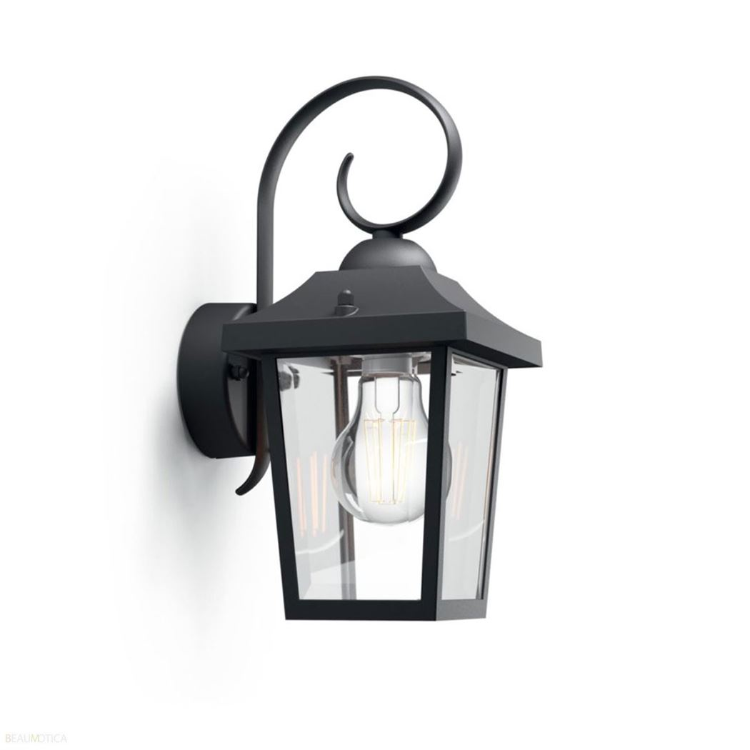 philips buzzard wall lantern black excl. 1x60w 230v