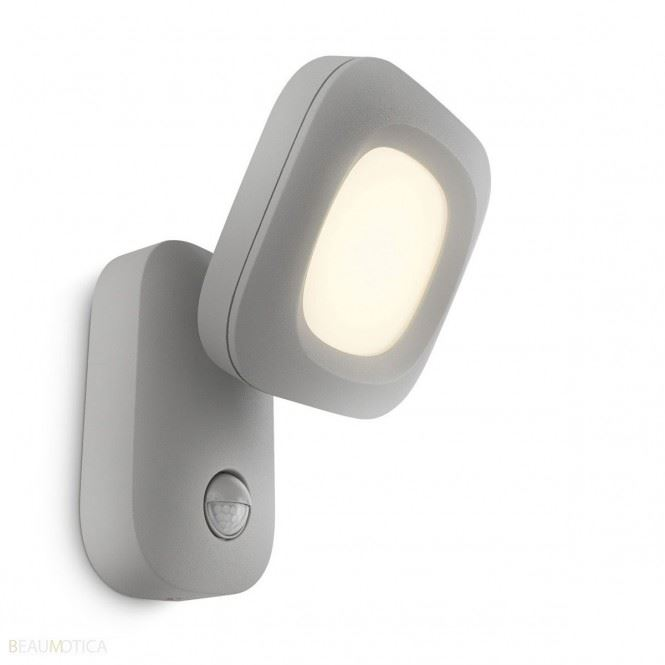 philips cloud wall lantern grey led 1x3w selv