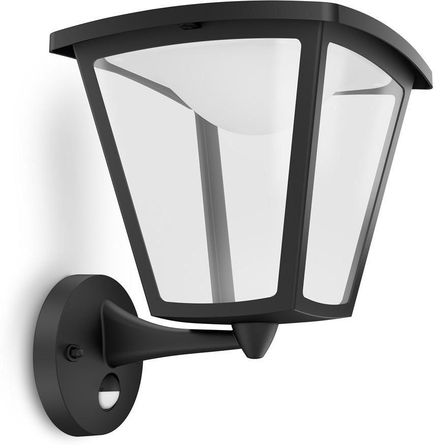 philips cottage wall lantern black led 1x4.5w 230v