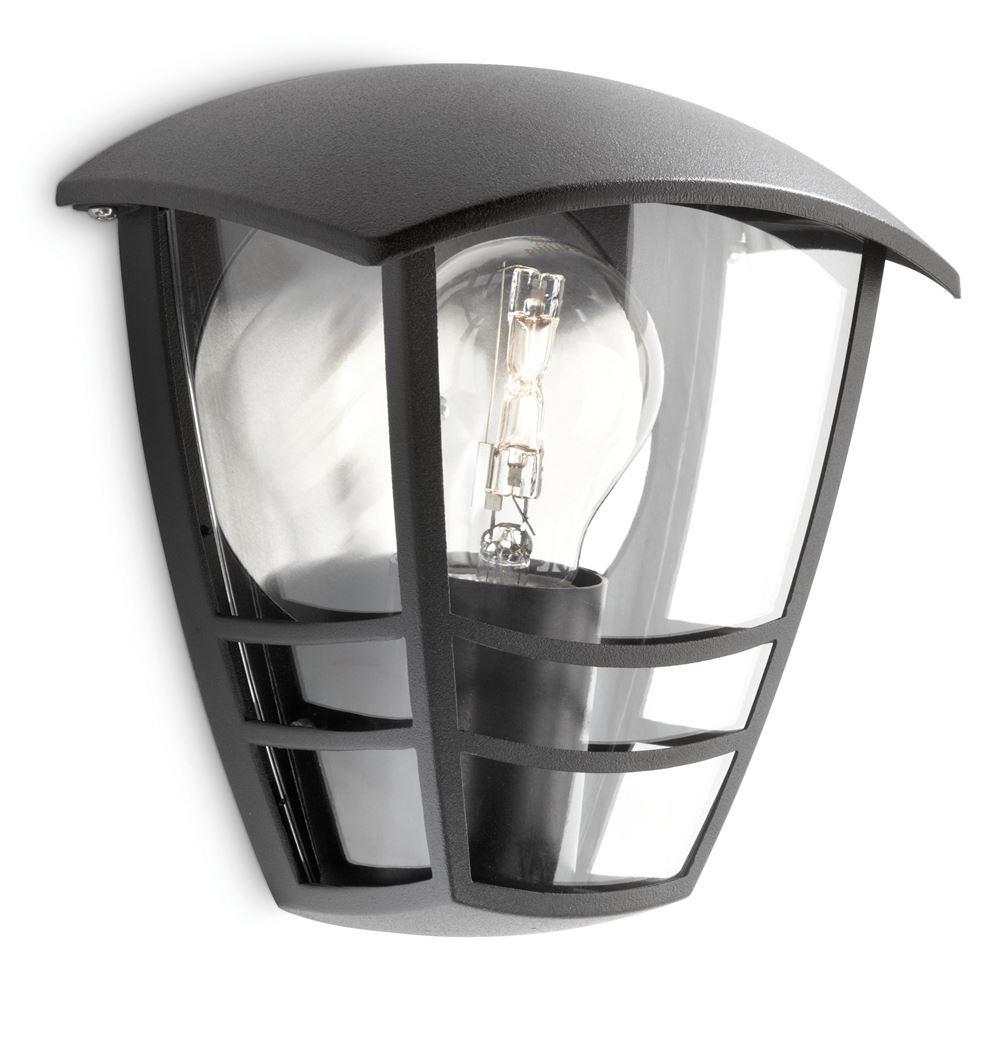 philips creek wall lantern black excl. 1x60w 230v