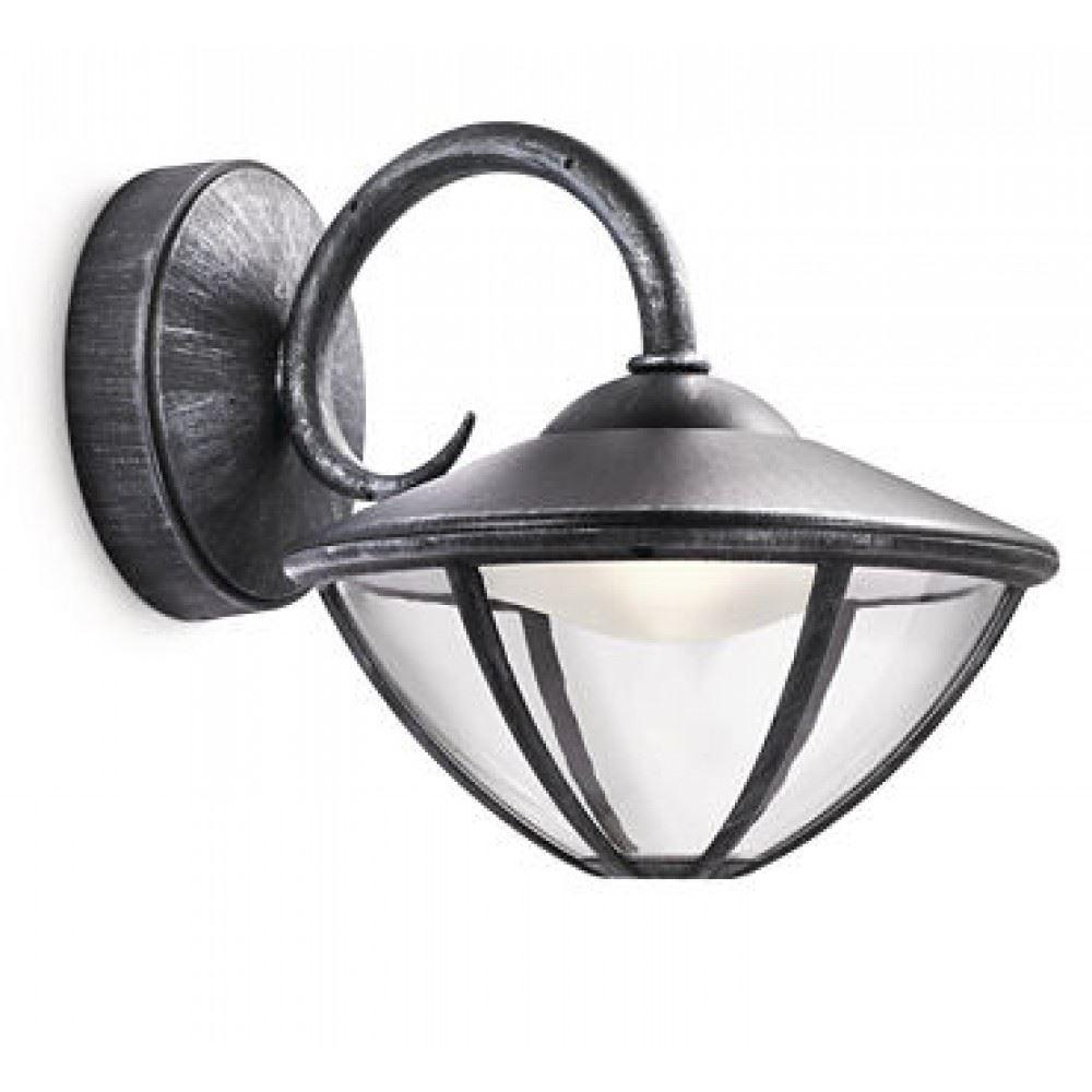 philips eden wall lantern led grey 1x7.5w selv