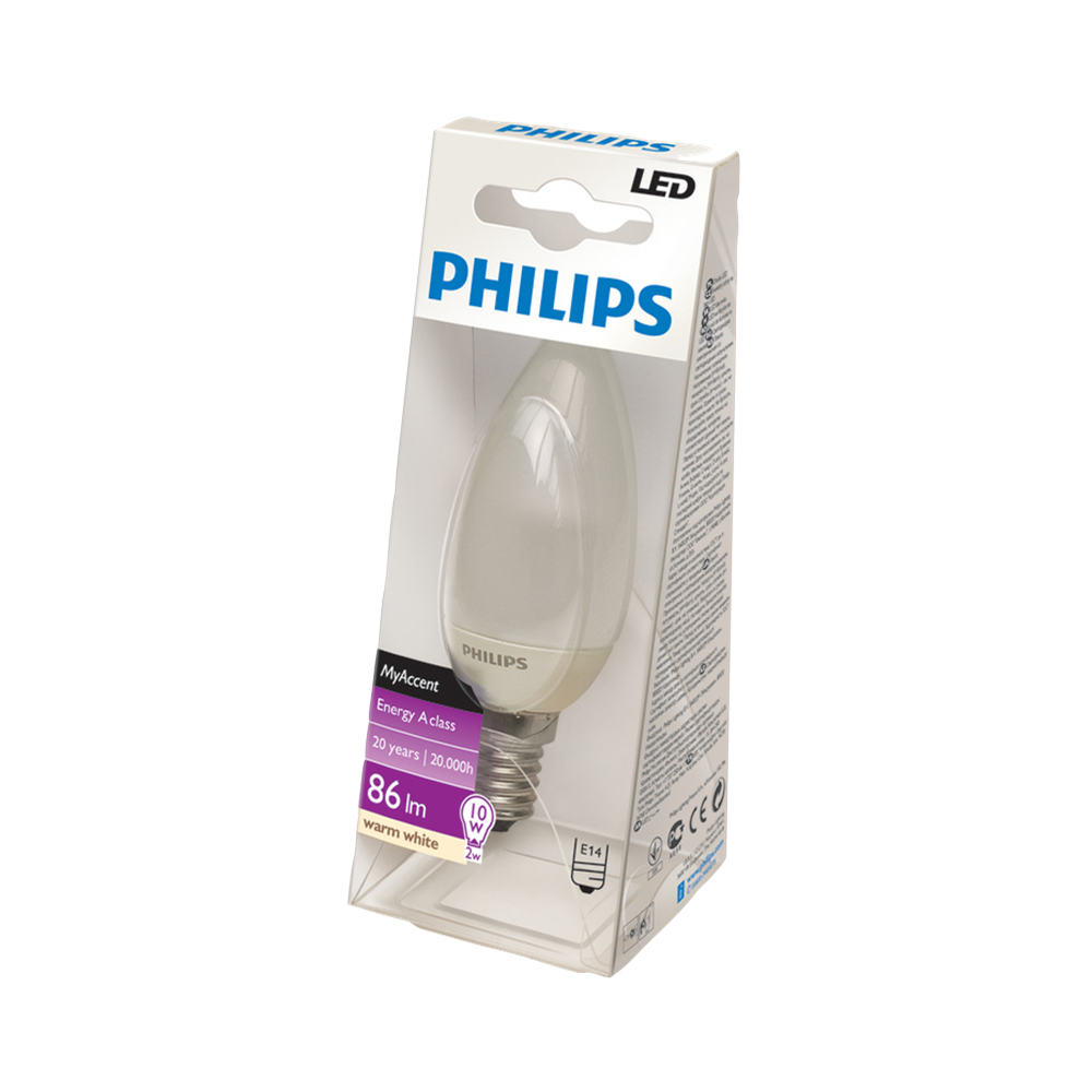 philips my accent led e14 warm white b35 fr