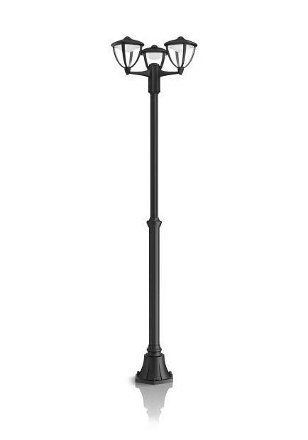 philips robin post black led 3x4.5w 230v