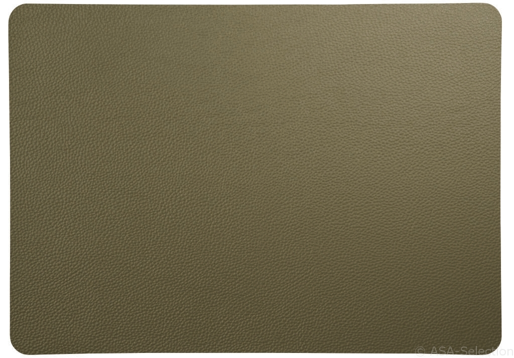 placemat, rough olive