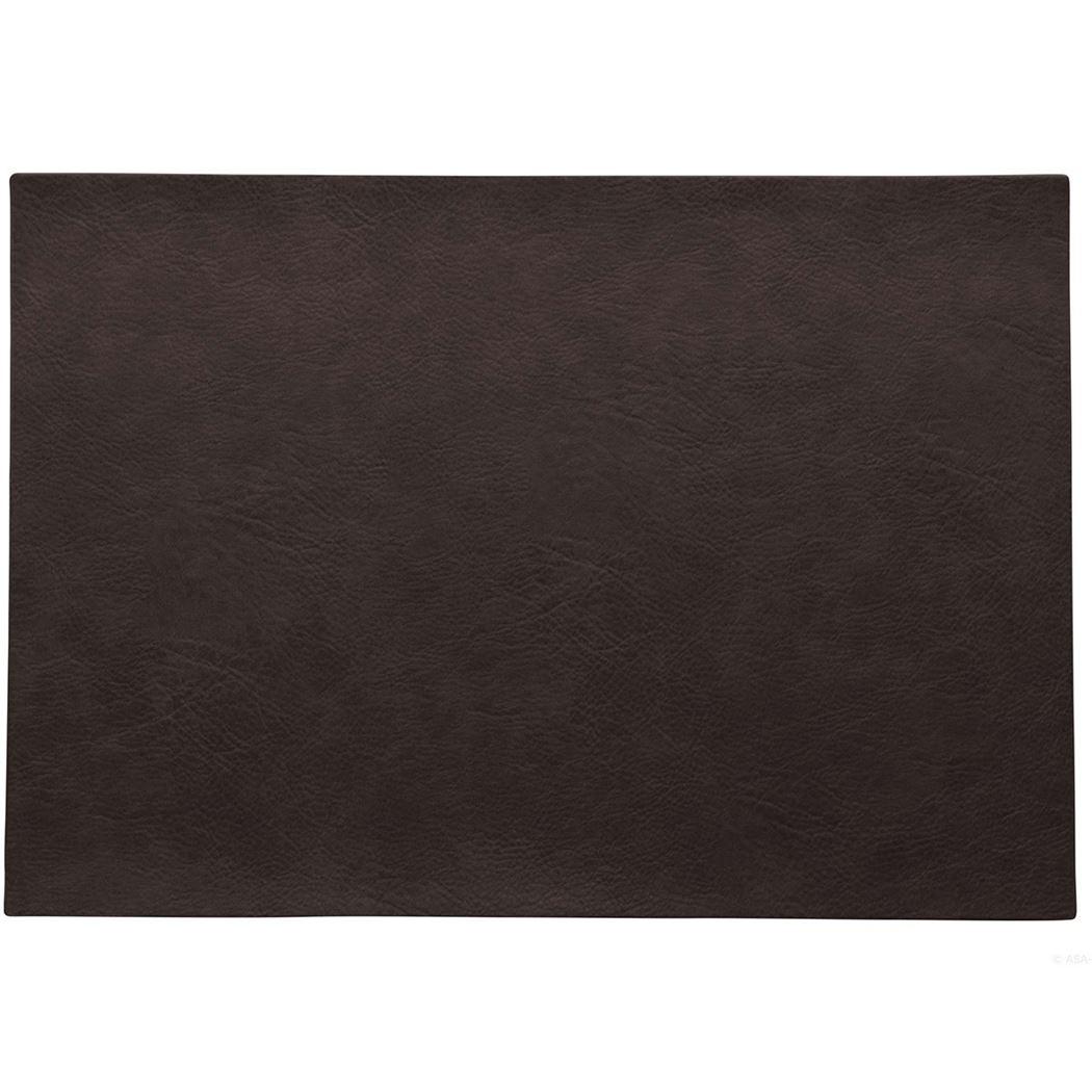 placemat vegan leather black coffee