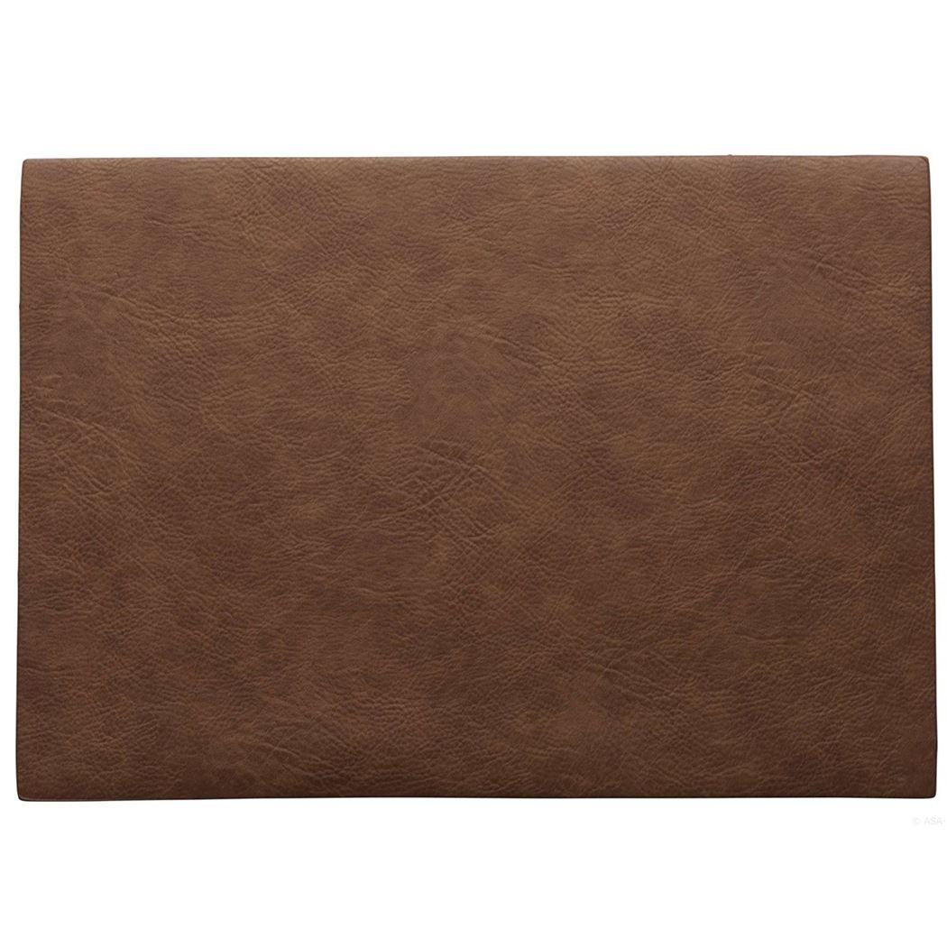 placemat vegan leather caramel