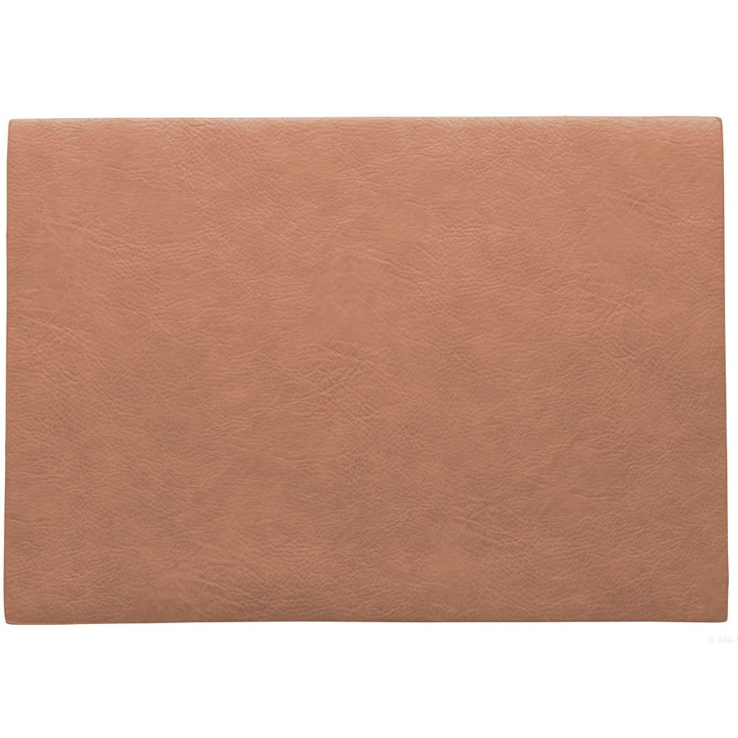 placemat vegan leather coral