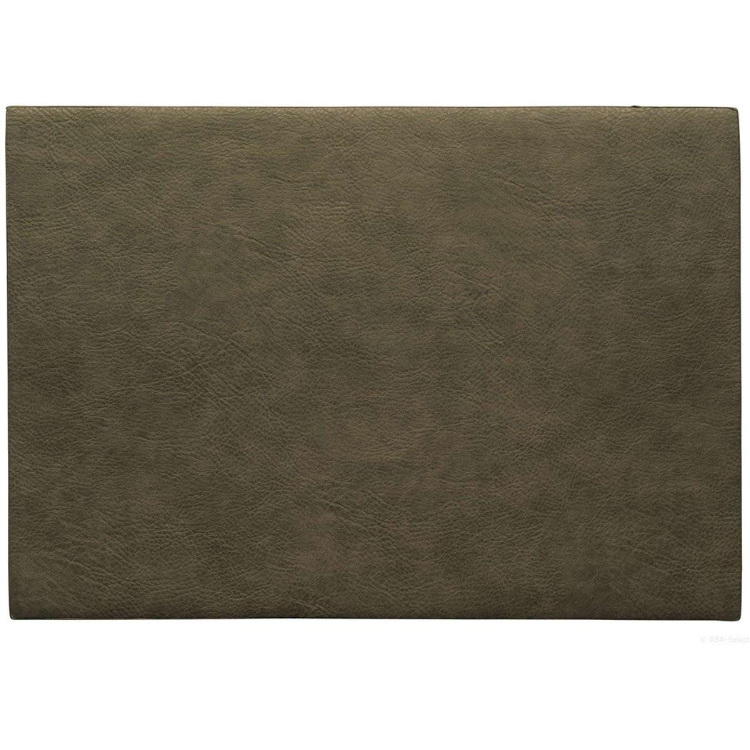 placemat vegan leather khaki