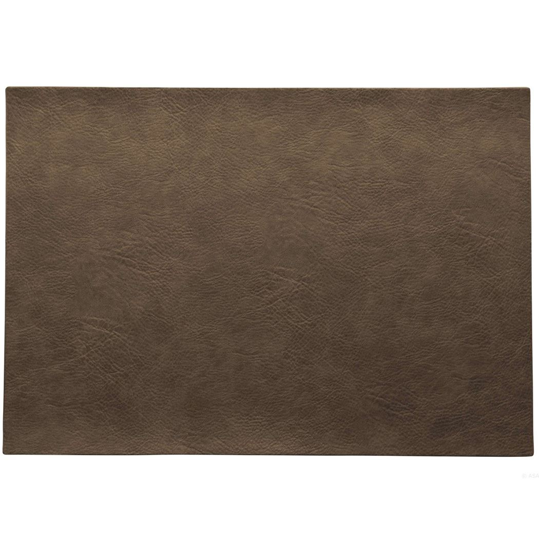 placemat vegan leather nougat