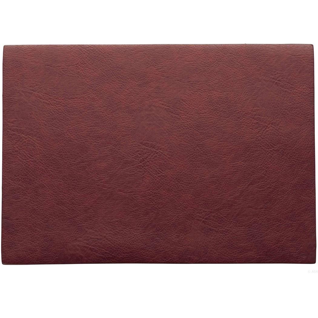 placemat vegan leather rosewood