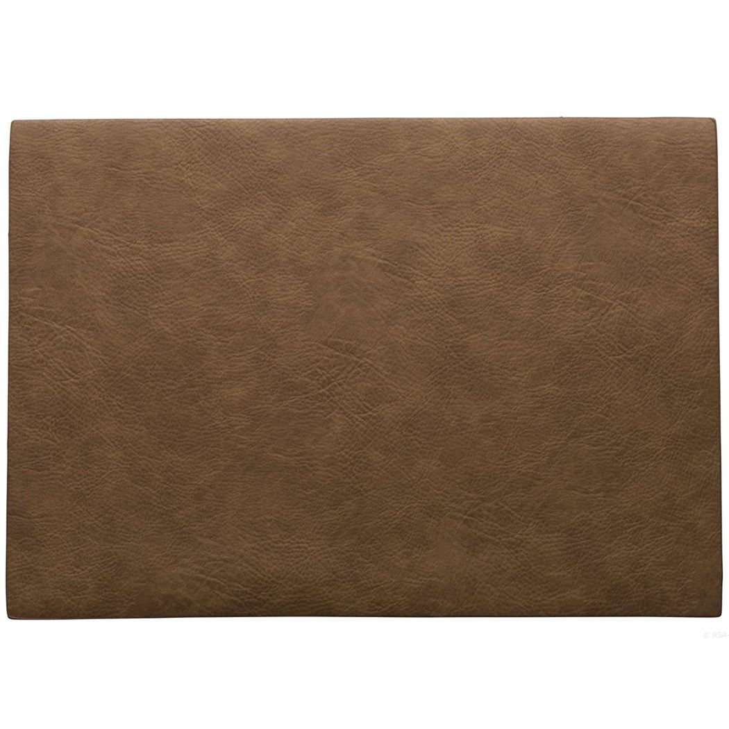 placemat vegan leather toffee