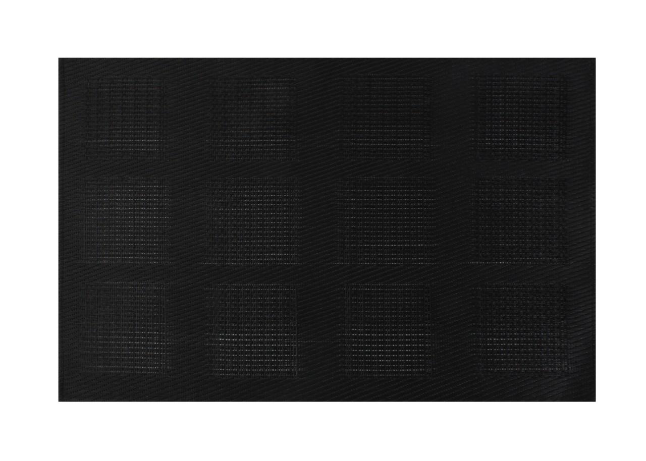 placemat zwart vierkant