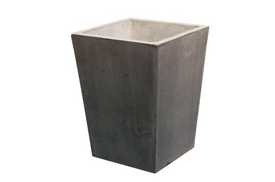 plantenbak vaas conisch betongrijs