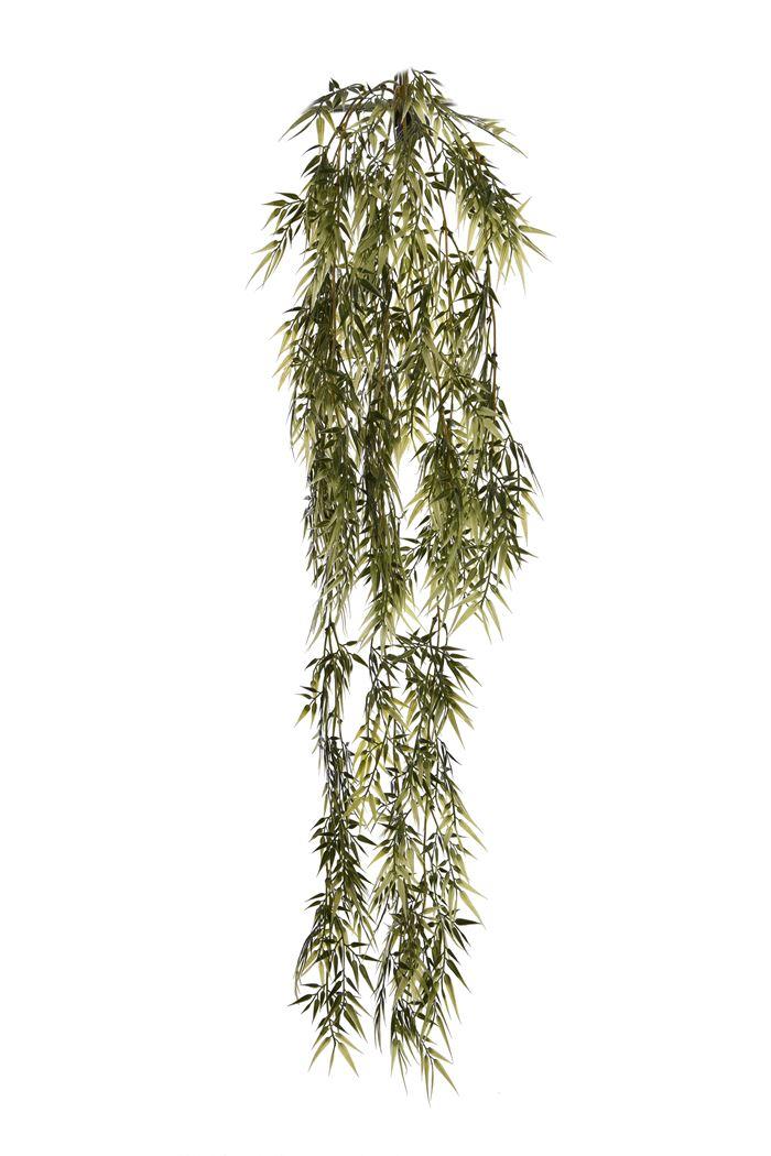 plastic bamboo hanging bush x 8 green