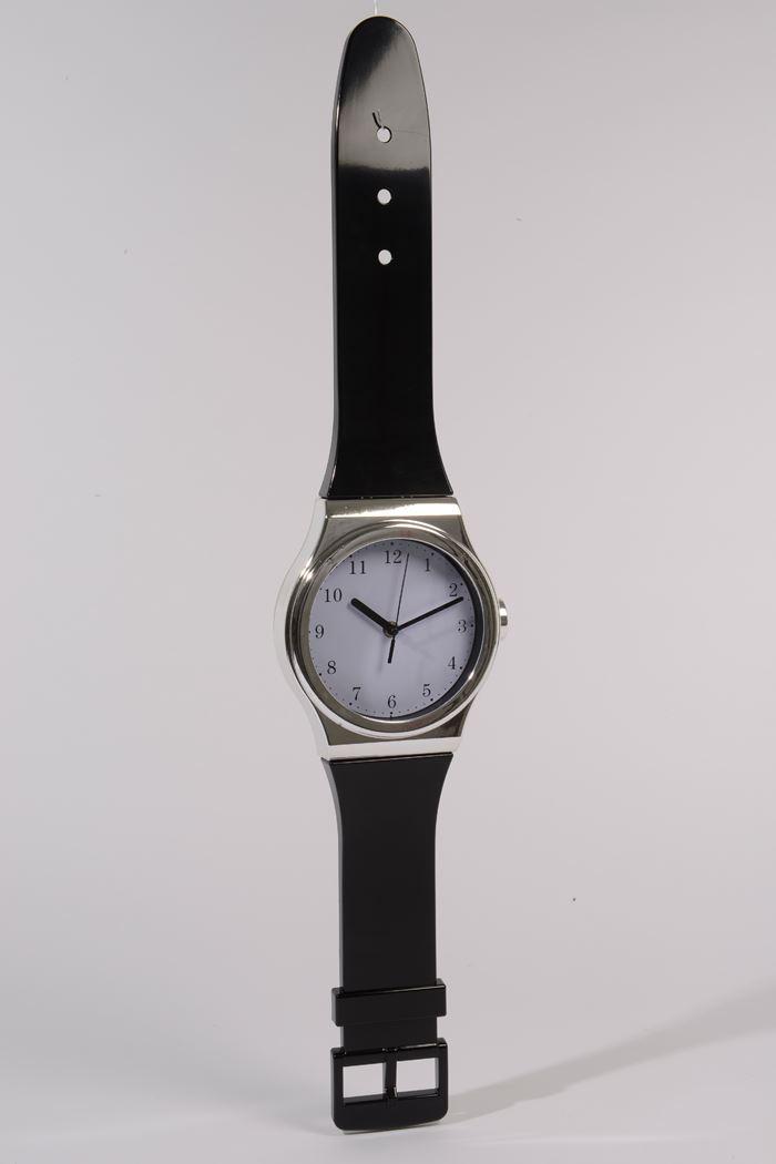 plastic klok horloge zwart