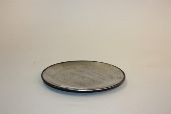 plastic plate charroux silver black finish