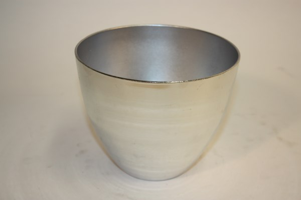plastic pot charroux electroplated silver