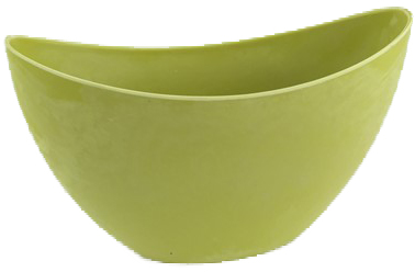 plastic pot charroux yellow