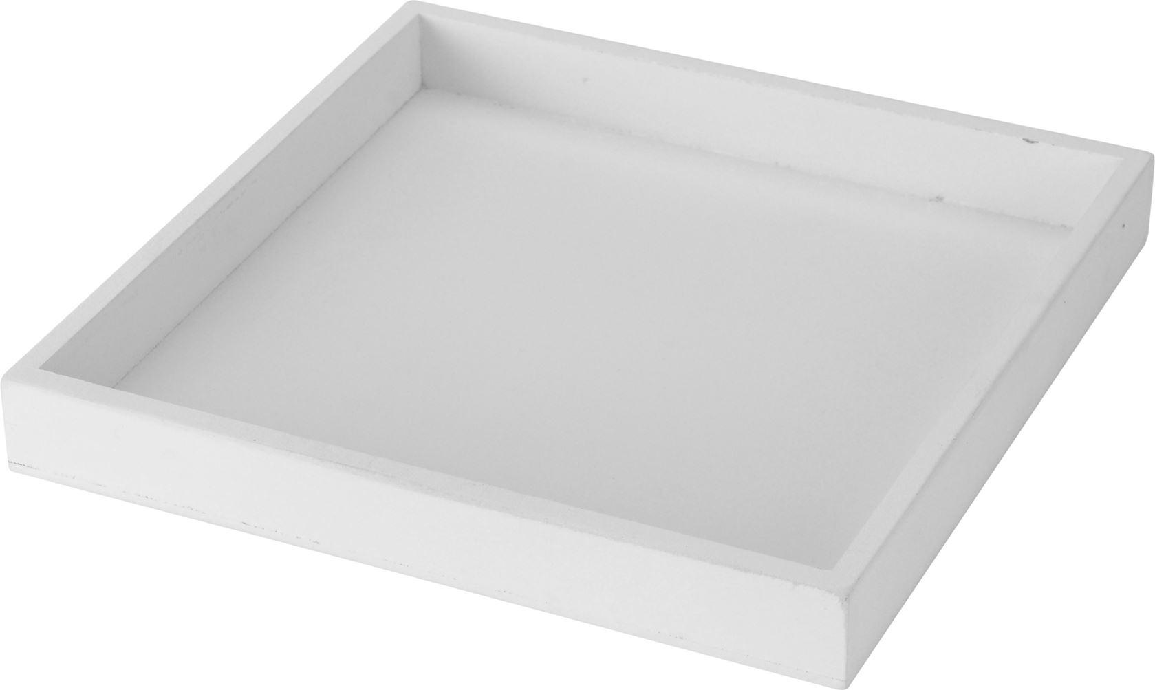 plateau vierkant wit