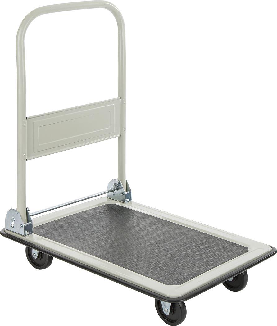 plateauwagen in staal grijs