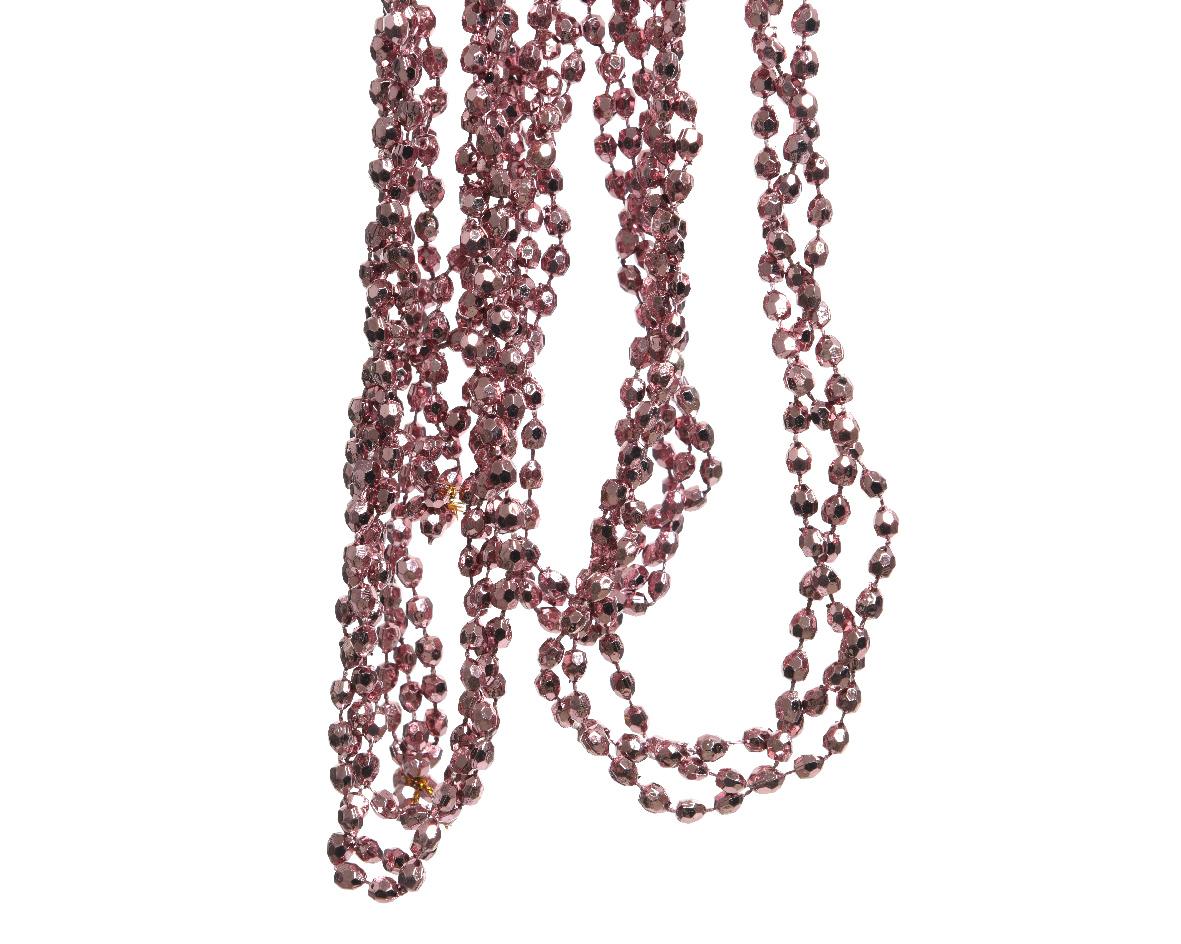 plc kralenketting diamant velours roze