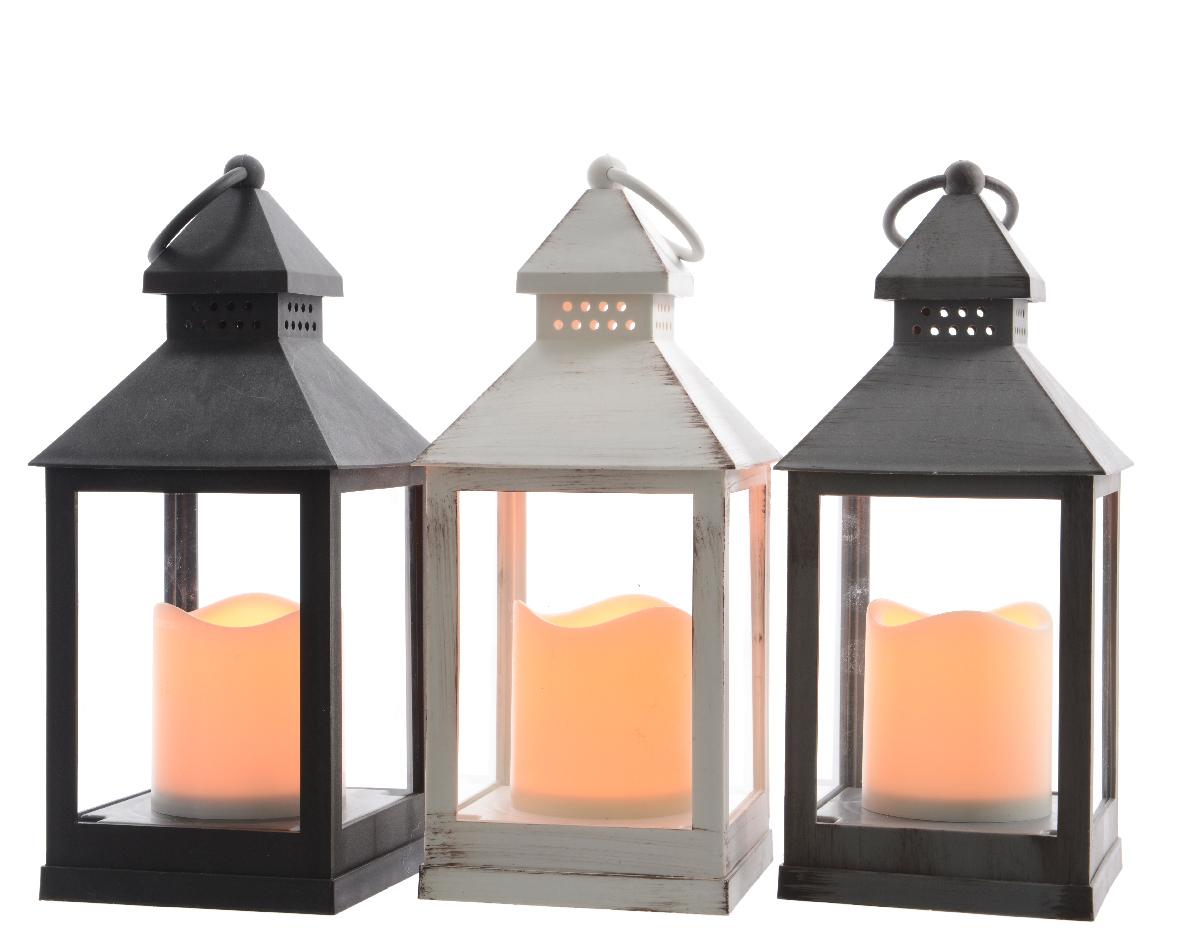 plc lantaarn led flame (3ass.) (b/o)
