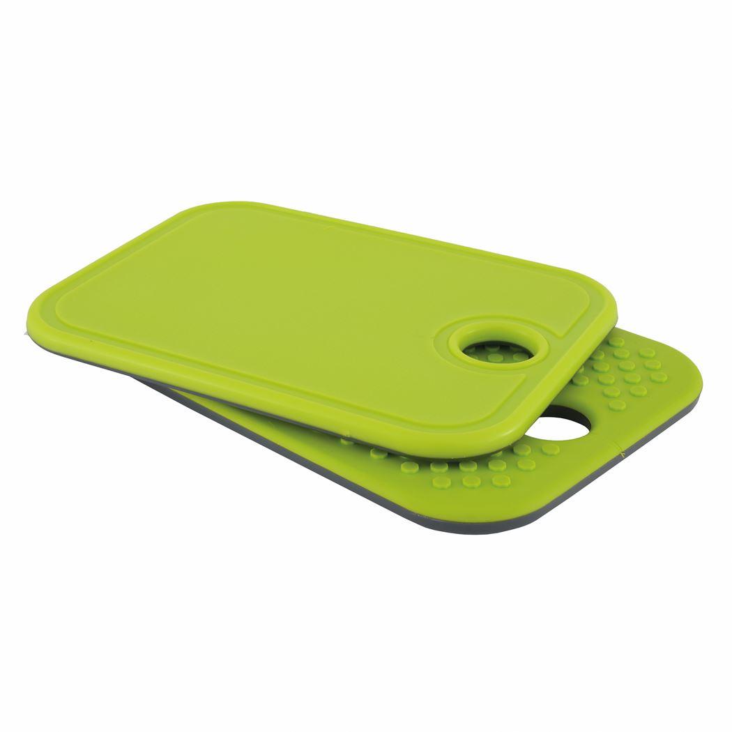 point-virgule anti-slip snijplankje grijs en groen