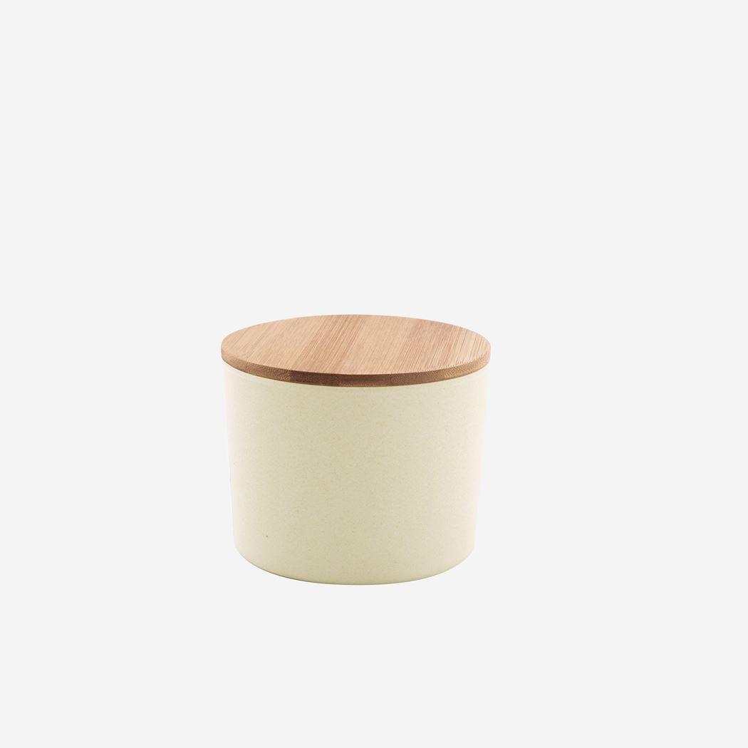 point-virgule medium voorraaddoos uit bamboevezel gebroken wit
