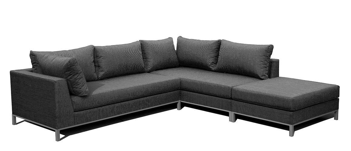 exotan casablanca lounge set rechts black