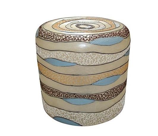 pol lamp stool rond. sand wave