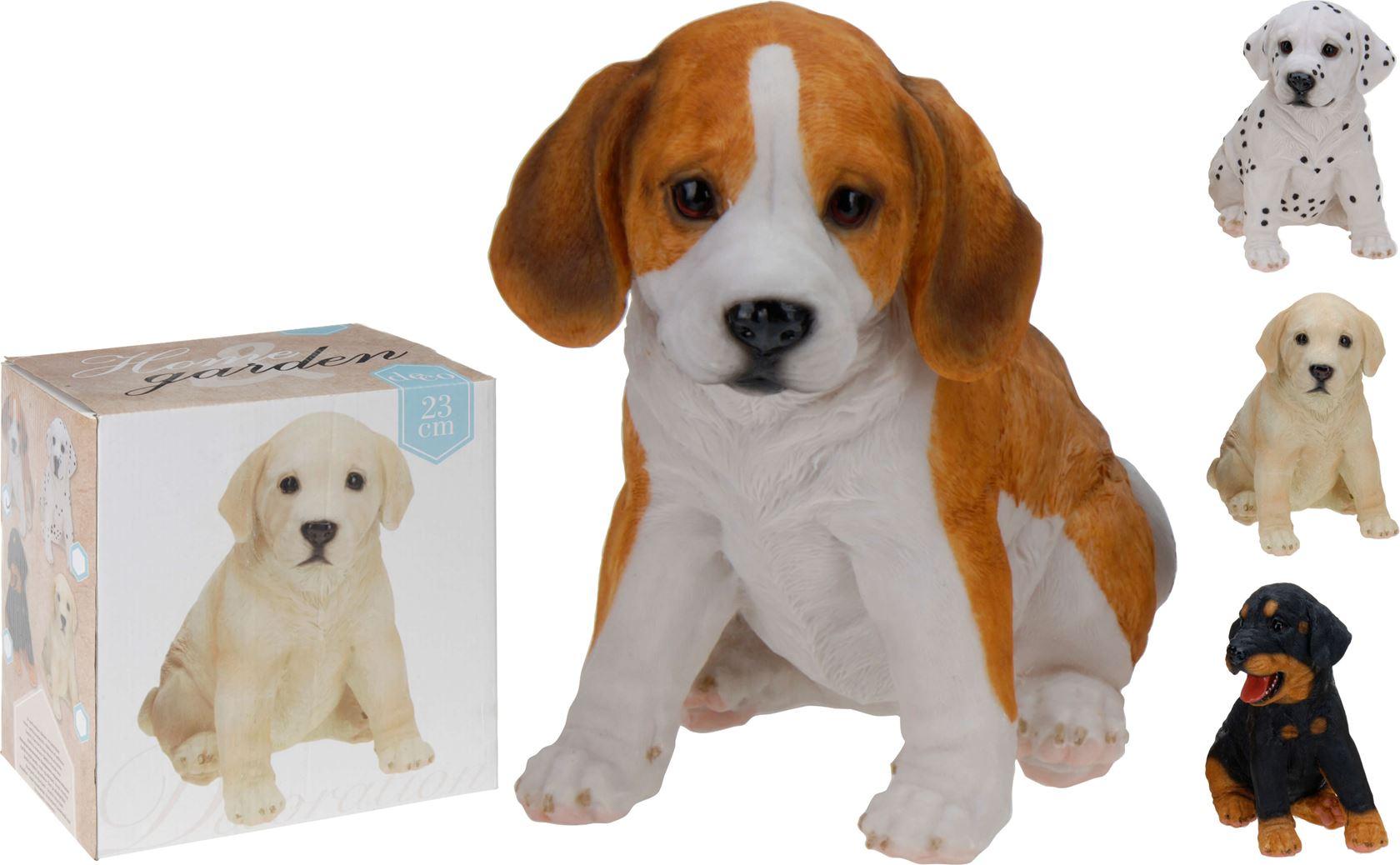 poly hond puppy zittend (4ass.)