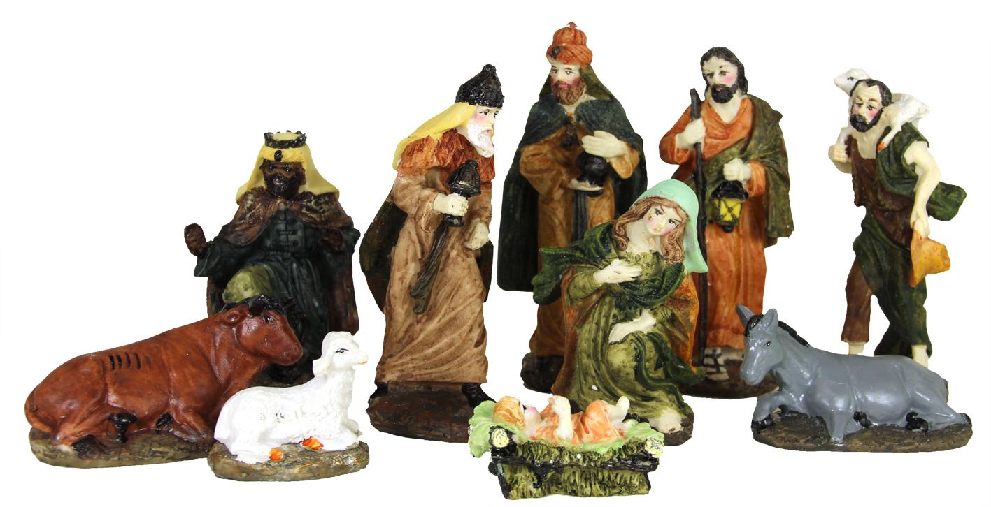 poly kerstfiguren (10-dlg)