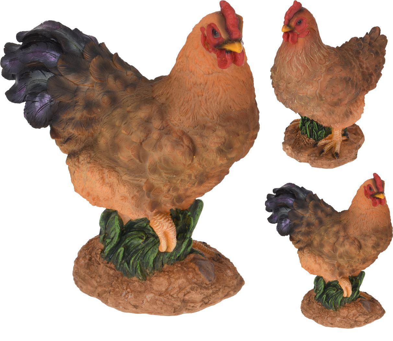 polystone haan en kip staand (2ass.)