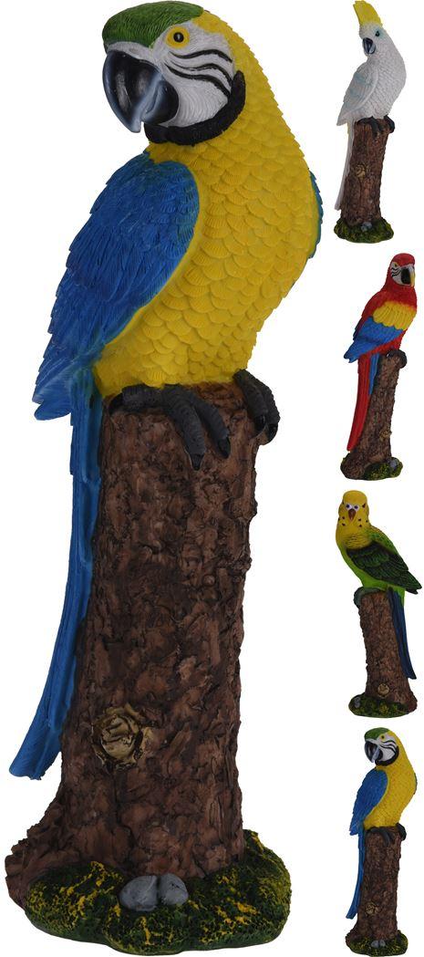 polystone tropical bird (4ass.)