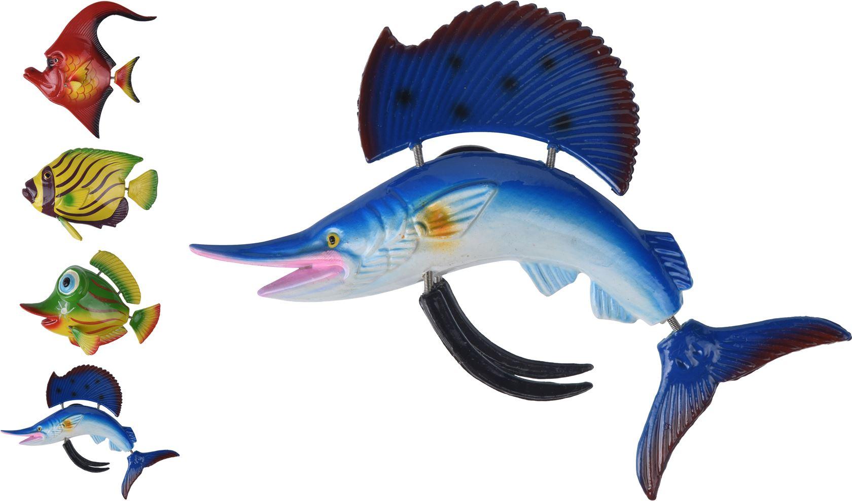polystone zeedieren met magneet (4ass.)