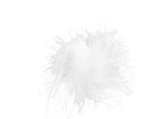 pompon feathersticker wit (10sts)