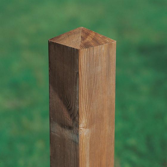 poortpaal grenen met diamantkop drukgeïmpregneerd