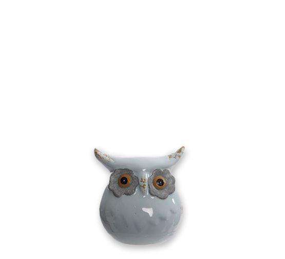 porcelain owl blue