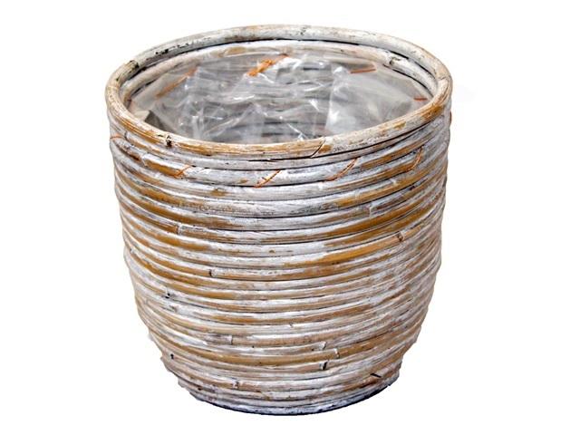 pot rond ballon streep white wash
