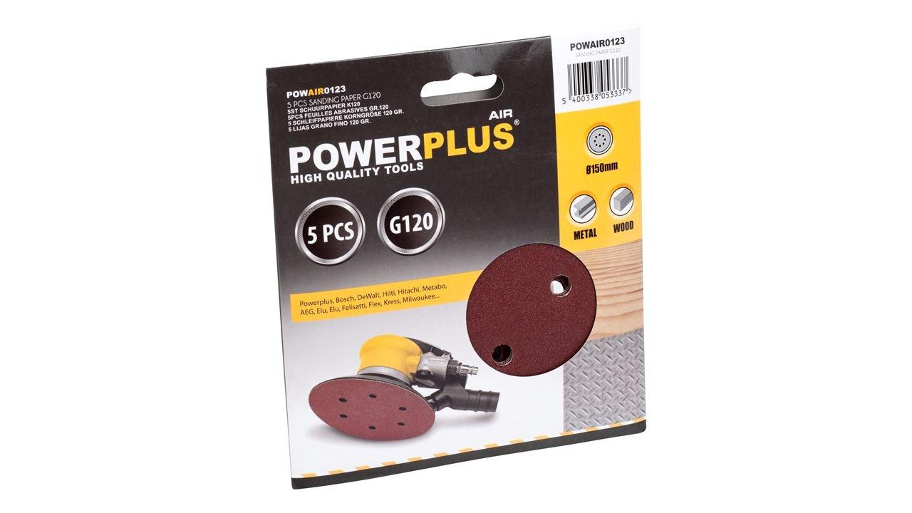 powerplus excentrisch schuurpapier k120 (5sts)
