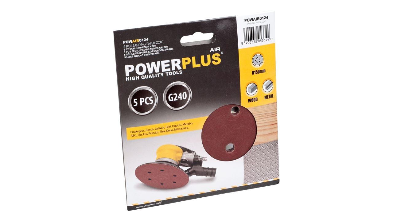 powerplus excentrisch schuurpapier k240 (5sts)
