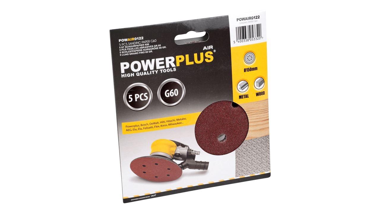 powerplus excentrisch schuurpapier k60 (5sts)