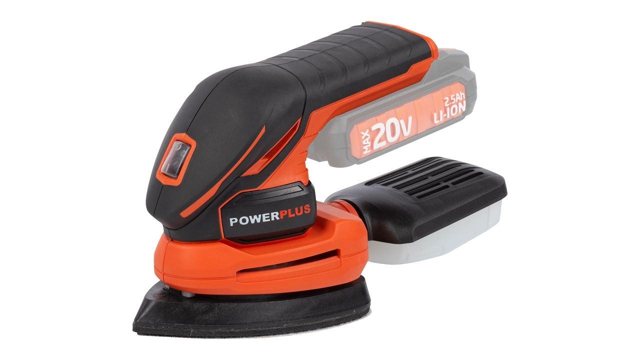 powerplus handpalmschuurmachine 20v (zonder batterij)